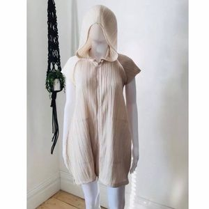 Issey Miyake Pleats please Zip Up Hooded Dress